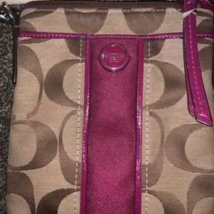 Gently used Signature Coach canvas purse